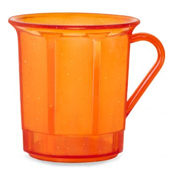 AKU® Kaffeebecher 0,30 l - PC orangeflitter transparent