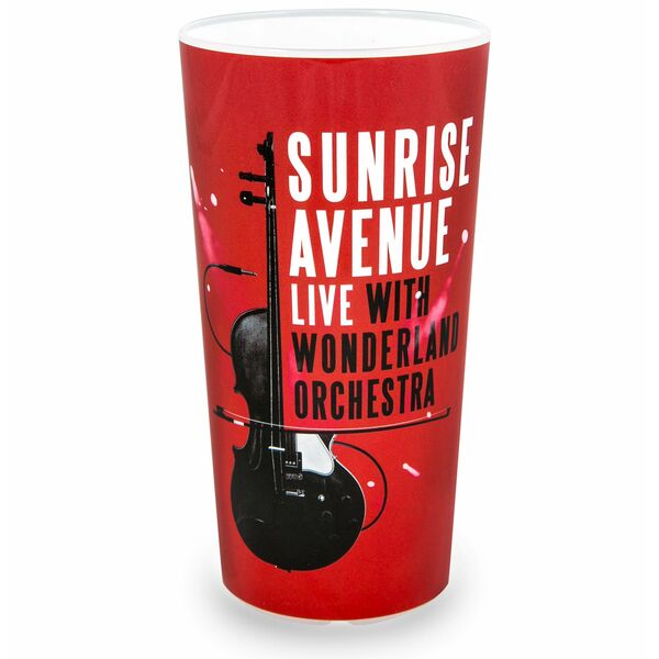 Sunrise Avenue Wonderland Tour Mehrwegbecher, rot