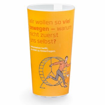 Werbebecher Reformation, orange